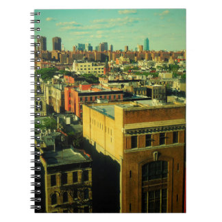Retro Rooftops NYC altered photo notebook