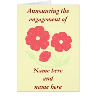 Rétro rose floral - crème, faire-part de carte de vœux
