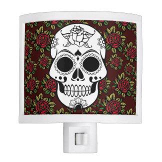Retro  rose skull rockabilly nightlight night light