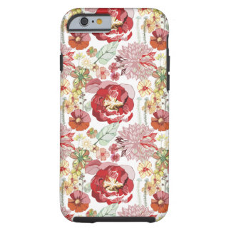 retro roses abstract chysanthemums iPhone 6 case