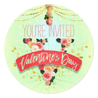 Retro Roses Valentine's Day Card