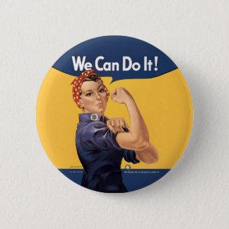 Retro Rosie We Can Do It 2 Inch Round Button