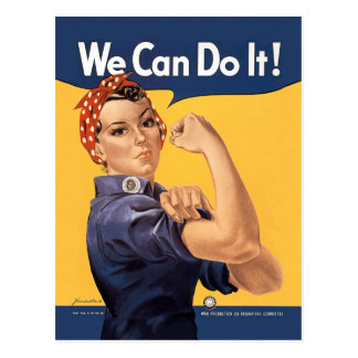 Retro Rosie We Can Do It Postcard