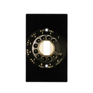 Retro Rotary Phone Dial (Black) Light Switch Cover