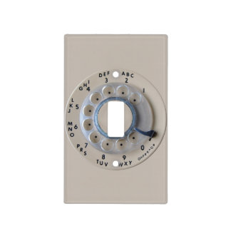 Retro Rotary Phone Dial Light Switch Cover