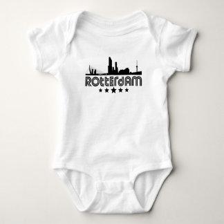 Retro Rotterdam Skyline Baby Bodysuit