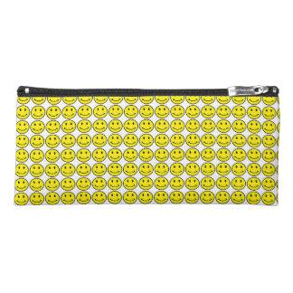 Retro Round Smiley Face Yellow Smile Pencil Case