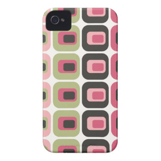 Retro rounded rectangles pink green gray case