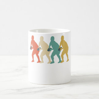 Retro Rugby Pop Art Coffee Mug