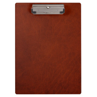 Retro Rustic Brown Rust Leather Clipboards