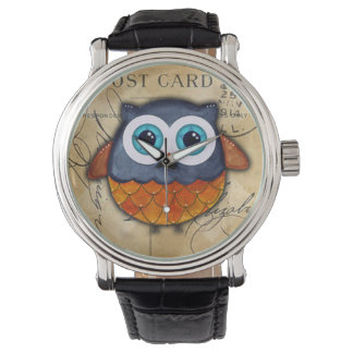 Retro Rustic Owl Watch