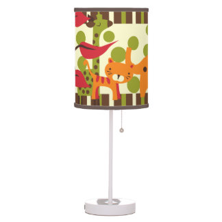 Retro Safari Animals Table Lamp