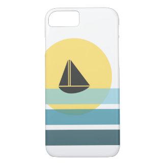 Retro Sail boat phone case   Mid Century Modern