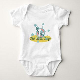 Retro Saint Bernard Lounge Baby Bodysuit