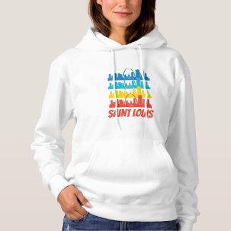 Retro Saint Louis MO Skyline Pop Art Hoodie