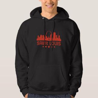 Retro Saint Louis Skyline Hoodie