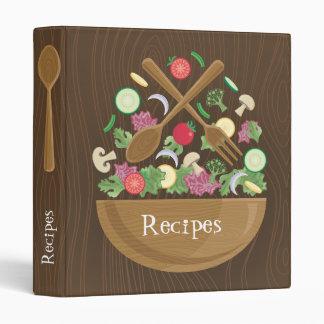 Retro Salad Bowl Cookbook Binder