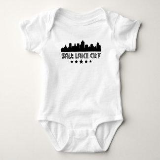 Retro Salt Lake City Skyline Baby Bodysuit