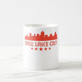 Retro Salt Lake City Skyline Coffee Mug