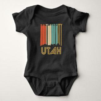 Retro Salt Lake City Utah Skyline Baby Bodysuit