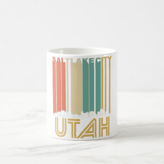 Retro Salt Lake City Utah Skyline Coffee Mug