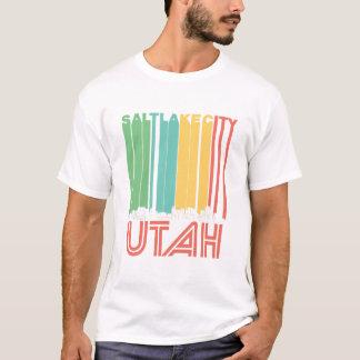 Retro Salt Lake City Utah Skyline T-Shirt