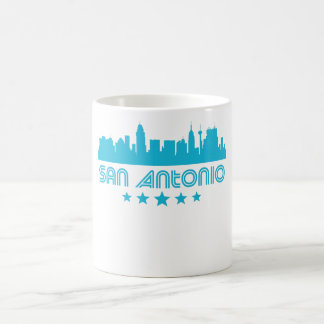 Retro San Antonio Skyline Coffee Mug