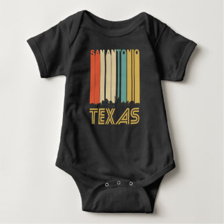 Retro San Antonio Texas Skyline Baby Bodysuit