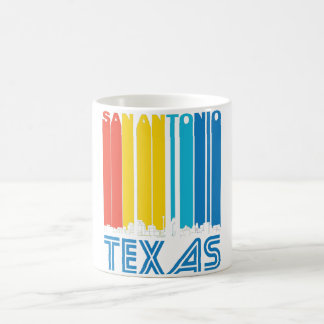 Retro San Antonio Texas Skyline Coffee Mug