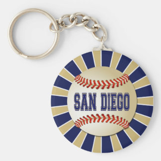 RETRO SAN DIEGO BASEBALL BASIC ROUND BUTTON KEYCHAIN