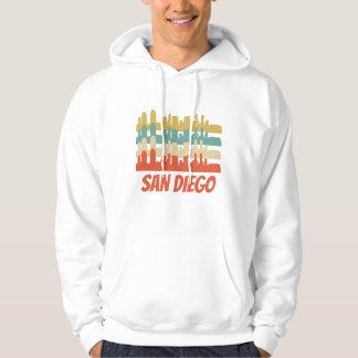 Retro San Diego CA Skyline Pop Art Hoodie