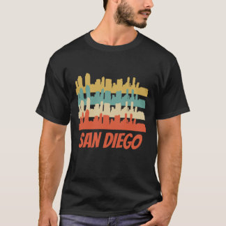 Retro San Diego CA Skyline Pop Art T-Shirt