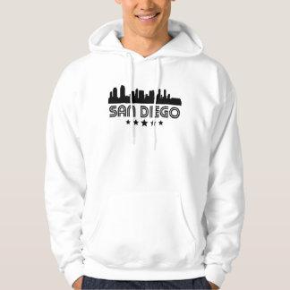 Retro San Diego Skyline Hoodie
