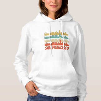 Retro San Francisco CA Skyline Pop Art Hoodie