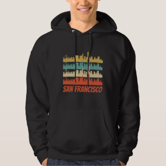 Retro San Francisco CA Skyline Pop Art Hoodie