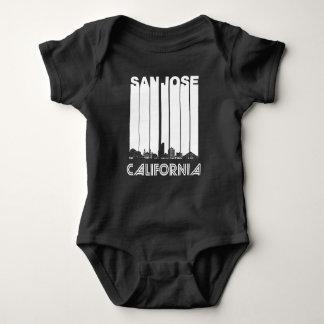 Retro San Jose California Skyline Baby Bodysuit