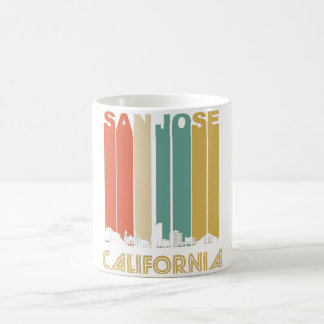 Retro San Jose California Skyline Coffee Mug