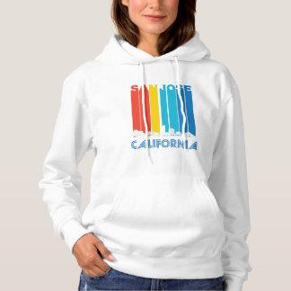 Retro San Jose California Skyline Hoodie