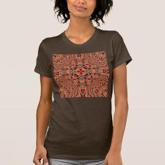 Rétro sans couture floral coloré tee-shirt