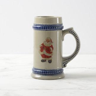 Retro Santa Beer Stein