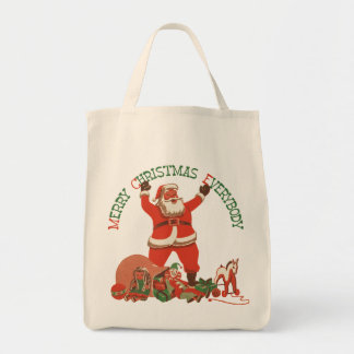 Retro Santa Christmas Bag