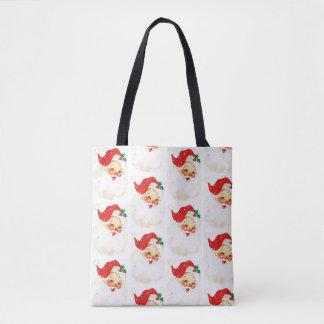 Retro Santa Christmas Holidays Totes Bag