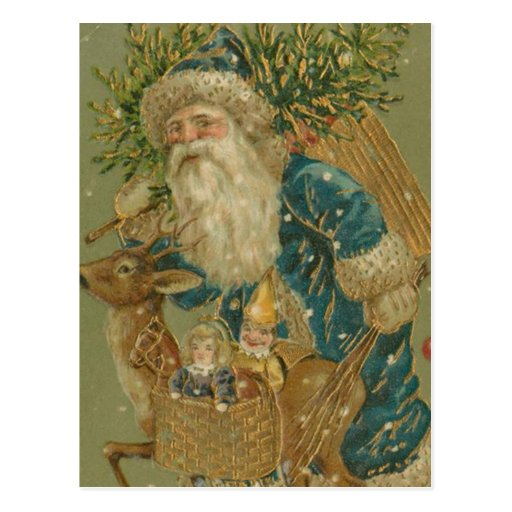Retro Santa Claus from 1900's Postcards