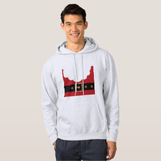 retro santa claus mens hooded hoodie sweatshirt