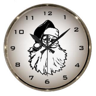 Retro Santa Claus Round Wall Clock
