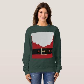 retro santa claus womens sweatshirt