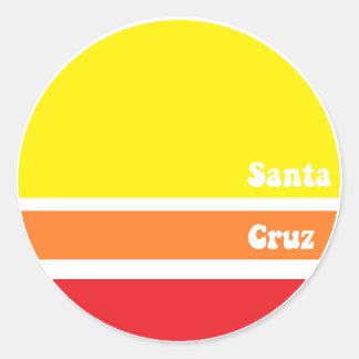 Retro Santa Cruz Sticker