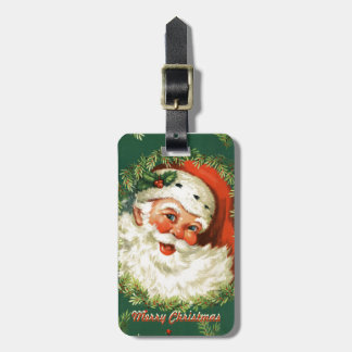 Retro Santa Luggage Tag