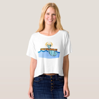Retro Save the Whales Canvas Boxy Crop Top T-Shirt