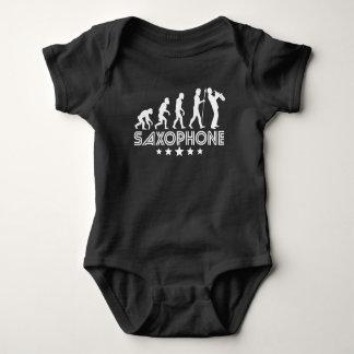 Retro Saxophone Evolution Baby Bodysuit